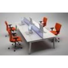 elite linnea bench desking system 4 person