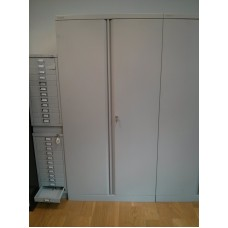 Bisley double door cupboards Grey Used