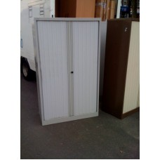 Bisley Tambour door cupboard Goose Grey.
