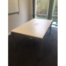 White Meeting Table  1800 x 1000